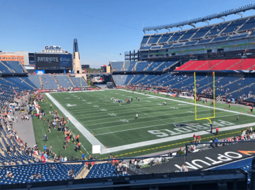 September is not a good month for Gillette Stadium